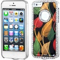 BasAcc Silver Dancing Leaves Elite Diamond Case for Apple iPhone 5