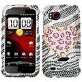 BasAcc Playful Leopard Diamante Protector Case For HTC Adr6425 Rezound