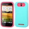 BasAcc Teal Green/ Hot Pink Wallet Case for HTC One SV