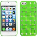 BasAcc Green Weave Texture Rubberized Case for Apple iPhone 5