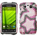 BasAcc Twin Stars Diamante Case for Blackberry 9850 Torch/ 9860 Torch
