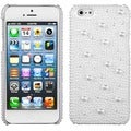 BasAcc White Pearl Diamante Back Case for Apple iPhone 5