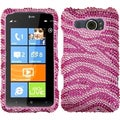 BasAcc Pink/ Hot Pink Zebra Skin Diamante Case for HTC Titan II