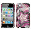 BasAcc Twin Stars Diamante Case for Apple iPod Touch 4