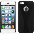 BasAcc Black Wave Back Protector Case for Apple iPhone 5