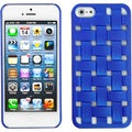 BasAcc Dark Blue Weave Texture Rubberized Case for Apple iPhone 5
