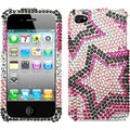 BasAcc Twin Stars Diamante Case for Apple iPhone 4/ 4S