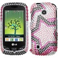 BasAcc Twin Stars Diamante Case for LG VN270 Cosmos Touch