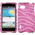 BasAcc Pink/ Hot Pink Zebra Skin Diamante Case for LG LS720