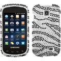 BasAcc Black/ Zebra Skin Diamante Case for Samsung� I827 Galaxy Appeal