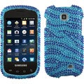 BasAcc Zebra Blue Skin Diamante Case for Samsung I827 Galaxy Appeal