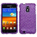 BasAcc Purple/ White Dot Diamante Case for Samsung D710 Epic 4G Touch