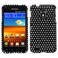 BasAcc Black/ White Dots Diamante Case for Samsung� D710 Epic 4G Touch