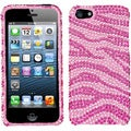 BasAcc Zebra Pink Diamante Protector Case for Apple iPhone 5