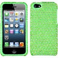 BasAcc Green/ White Dots Diamante Protector Case for Apple� iPhone 5