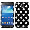 BasAcc White Polka Dots/ Black Case for Samsung i537 Galaxy S4 Active
