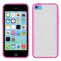 BasAcc Transparent Clear/ Hot Pink Gummy Case for Apple iPhone 5C