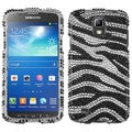 BasAcc Black Zebra Diamante Case for Samsung i537 Galaxy S4 Active