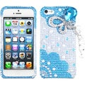 BasAcc Blue Butterfly Chain 3D Diamante Case for Apple iPhone 5/ 5S