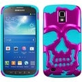 BasAcc Hot Pink/ Teal Skullcap Case for Samsung i537 Galaxy S4 Active