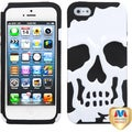 BasAcc Ivory White/ Black Skullcap Hybrid Case for Apple� iPhone 5