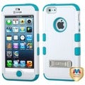 BasAcc Natural Ivory White/ Teal TUFF Case for Apple iPhone 5/ 5S