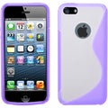 BasAcc Transparent Clear/ Purple Gummy Case for Apple� iPhone 5