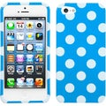 BasAcc White Polka Dots/ Blue Case for Apple iPhone 5