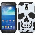 BasAcc White/ Black Skullcap Case for Samsung i537 Galaxy S4 Active