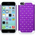 BasAcc Purple/ Solid White Lattice Case for Apple iPhone 5C