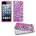 BasAcc Silver Zebra Skin/ Hot Pink Fusion Case for Apple iPhone 5