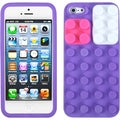 BasAcc Purple/ Blocks Skin Case for Apple iPhone 5