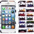 BasAcc White Retro Trains Case for Apple iPhone 5