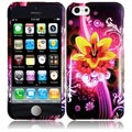 INSTEN Colorful/ Black Dream Flower Hard Plastic Snap-on Phone Case Cover for Apple iPhone 5C