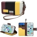 BasAcc Yellow/ Black / Brown MyJacket Wallet Case for Apple iPhone 5C
