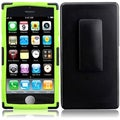 BasAcc Black/ Neon Green Holster Case for Apple iPhone 5C