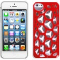 BasAcc Red/ White Synapse Case for Apple iPhone 5