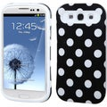 BasAcc White Polka Dots/White Wallet Case for Samsung� Galaxy S3 I9300