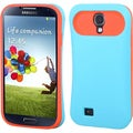 BasAcc Baby Blue/ Orange Back Case for Samsung Galaxy S4/ S IV