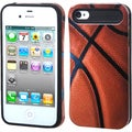 BasAcc Basketball/ Black Wallet Back Case for Apple� iPhone 4/ 4S