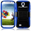 BasAcc Black/ Dark Blue Case with Stand for Samsung Galaxy S4 i9500