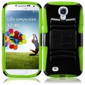 BasAcc Black/ Neon Green Case with Stand for Samsung Galaxy S4 i9500