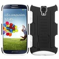 BasAcc Black/ White Car Armor Stand Case for Samsung Galaxy S4/ S IV