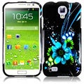 BasAcc Blue Flower Case for Samsung Galaxy S4 i9500