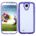 BasAcc Clear/ Solid Purple Gummy Case for Samsung� Galaxy S4 i9500