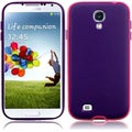BasAcc Hot Pink/ Dark Purple TPU Case for Samsung Galaxy S4 i9500