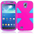 BasAcc Hot Pink/ Sky Blue Case for Samsung Galaxy S4 Active i537