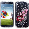 BasAcc Hot Pink Delphinium Flower Case for Samsung Galaxy S4 1337