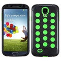 BasAcc Natural Black/ Electric Green TUFF Case for Samsung Galaxy S4