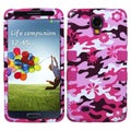 BasAcc Pink Flower Camo/ Hot Pink TUFF Case for Samsung Galaxy S4